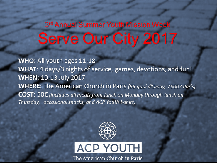 Serve Our City 2017: Youth Mission Week
