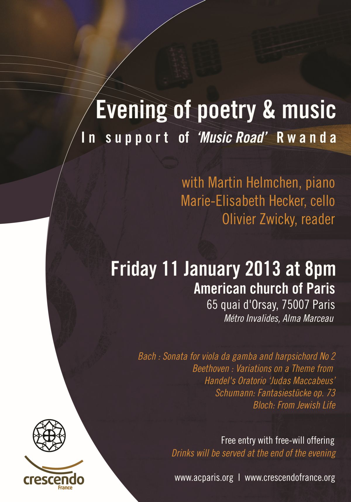 Crescendo — An Evening of Poetry and Music - 11 January