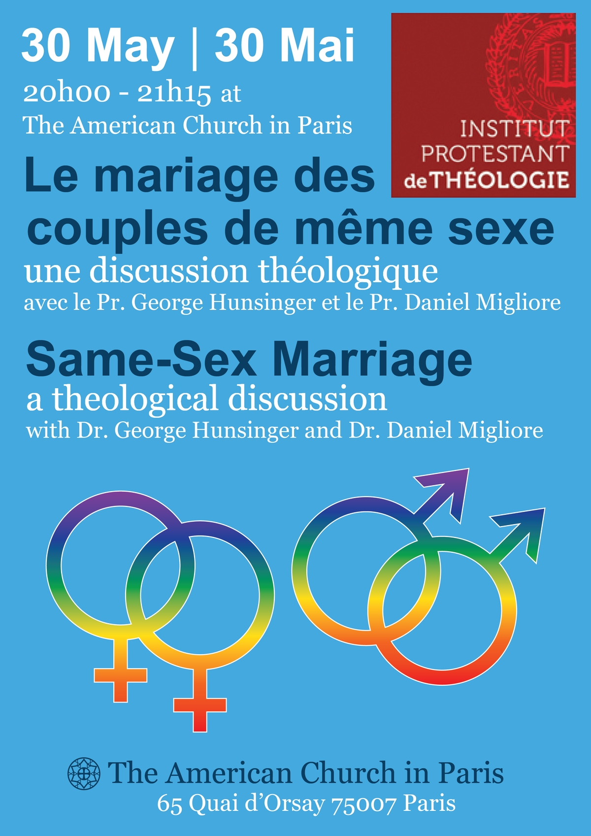 Lecture - same sex marriage - 30 Mai 2018