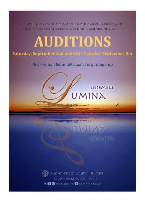 Lumina Auditions