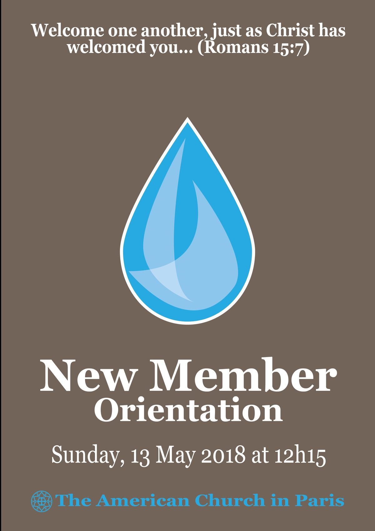 New Member Orientation - 13 May 2018