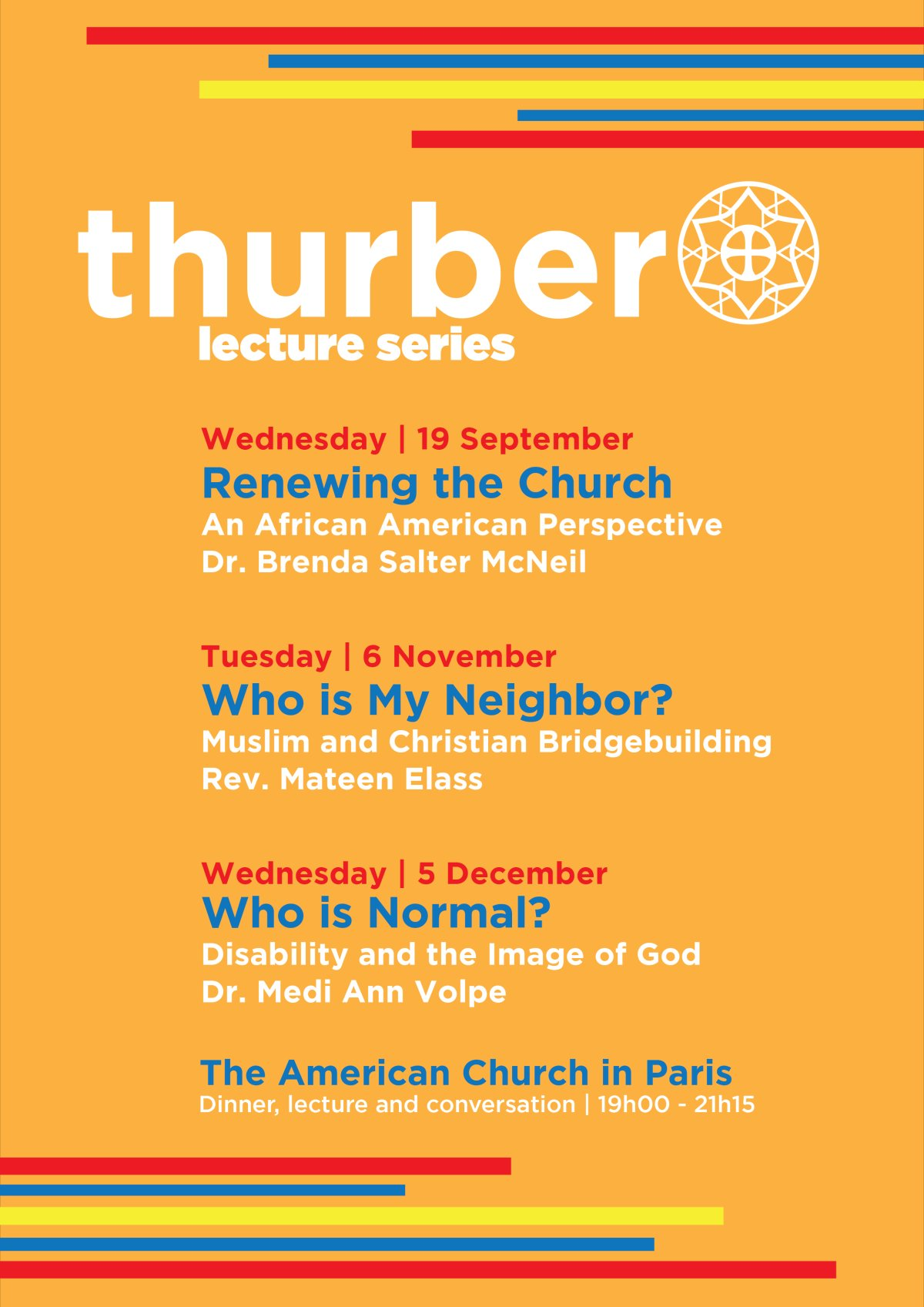 Thurber Lectures Autumn 2018