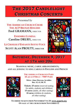 ACP Candlelight Christmas Concerts — 9 December 17h & 20h