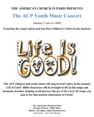 The ACP Youth Music Concert